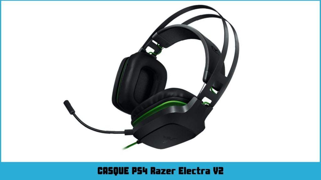 casque ps4 Razer Electra V2